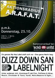 DUZZ DOWN SAN LABELNIGHT_25.10.2012