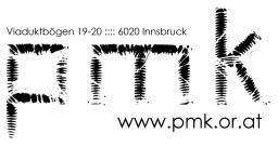 Das Logo der p.m.k mit Adresse