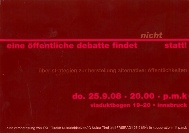 Eine öffentliche Debatte findet //nicht// statt!_25.09.2008