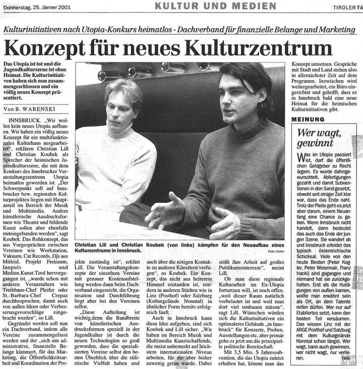 Tiroler Tageszeitung, 25.01.2001