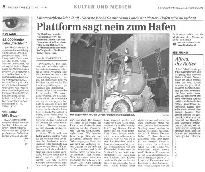 Tiroler Tageszeitung, 10.02.2001