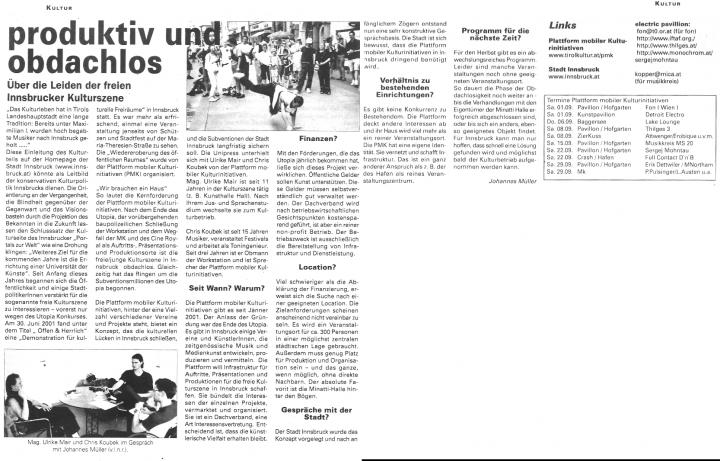 Unipress, April 2001
