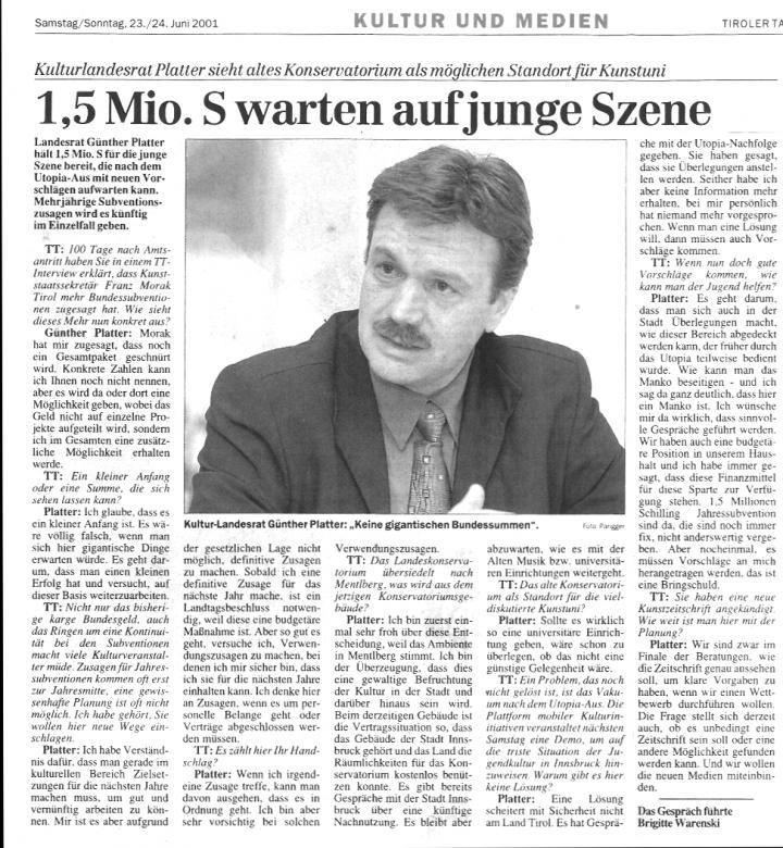 Tiroler Tageszeitung, 23./24.06.2001